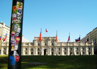 Regards from Palacio de la Moneda , Santiago!