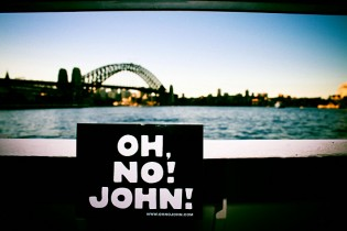 OH, NO! JOHN! visits the Harbour Bridge in Sydney!
