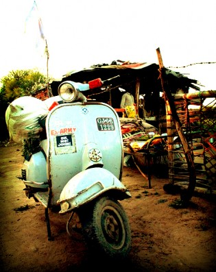 Vespa in Baroda, India!