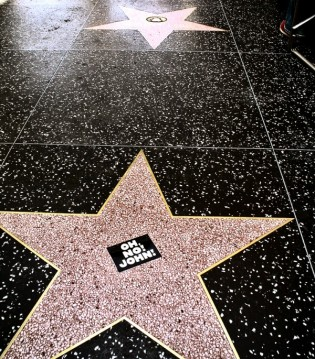 Hollywood walk of fame! Gorgeous John!