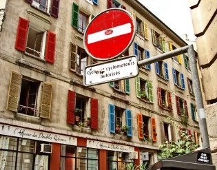 Coloured windows in Geneve!
